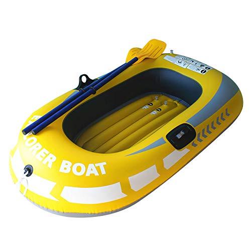 YANXS Piscina Flotador, Inflatable Boat Piscina Inflable Flotador para Adultos y Niños Hinchables para Piscina Flotador Gigante para Piscina al Aire Libre o Lounge,Amarillo,B:188 * 114CM