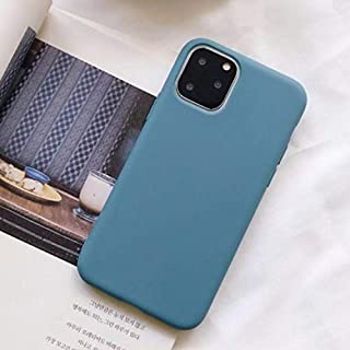 Generic Anti Shock Proof Slim Matte Soft TPU Silicone Cover For iPhone 12 Mini Phone Case (iPhone 12 mini, Lake Blue)