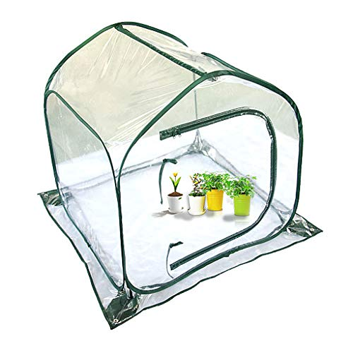 Pop Up Greenhouse Gardening Foldable Cover Flower House 7.9MM Solid Glass Fiber Pole 1.5 * 6MM Steel Wire Zipper Ventilation Window Mini Garden Hood