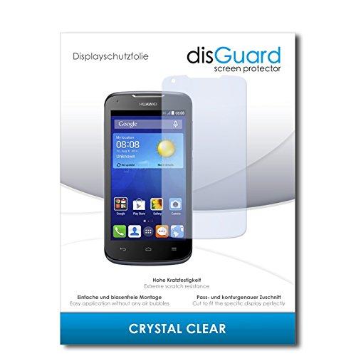 disGuard® Bildschirmschutzfolie [Crystal Clear] kompatibel mit Huawei Ascend Y540 [4 Stück] Kristallklar, Transparent, Unsichtbar, Extrem Kratzfest, Anti-Fingerabdruck - Panzerglas Folie, Schutzfolie