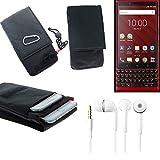 K-S-Trade® Belt Bag Breast Pocket For Blackberry KEY2 Red