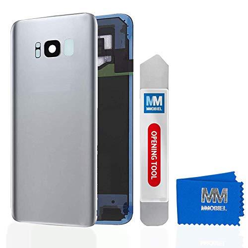 MMOBIEL Tapa Bateria/Carcasa Trasera con Lente de Cámara Compatible con Samsung S8 Plus G955 6.2 Pulg. (Plata Ártico)