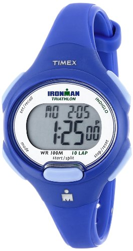 Timex Women's T5K784 Ironman Essential 10 Mid-Size Orient Blue Resin