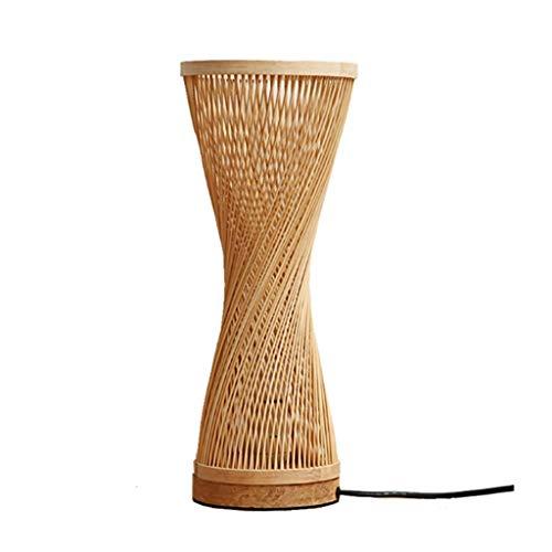 Lampara de mesa Bambú Lámpara de mesa japonesa Dormitorio Lámpara de escritorio de la cabecera Estudio Lámpara de cabecera Decoración de mesa Lámpara de mesa Lámpara de mesa de noche Lámpara de mesill