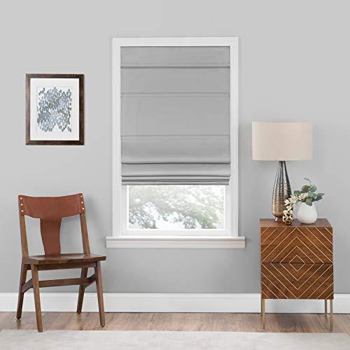 "Achim Home Furnishings RSCO36GY04 , Grey Cordless Blackout Roman Window Shade, 36""x64"", 36"" x 64"""