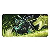 Over-Watch Gaming Mouse Pad, Microfiber Pu Leather Thicken Computer Mouse Mat Desk Pad with Non-Slip Base and Stitched Edge for Home Office Gaming Work.