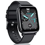 LIYIFANKJ Reloj Inteligente 1.7 Pulgadas para Hombres Mujeres Smartwatch IP68 Impermeable 24 Modos...