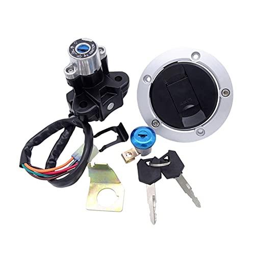 MIQING Kit de llaves de la tapa del gas del tanque de combustible de aceite de la motocicleta Ajuste para Suzuki GSF 650 1250 bandido GSXR 650/750/1000 SV1000 CINTURÓN DE INTERRUPTOR DE LGNICIÓN CON2
