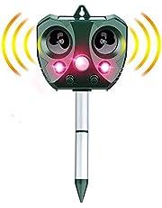 جهاز طارد للقطط من انوو تيك، يعمل بالطاقة الشمسية والموجات فوق الصوتية مع مستشعر حركة، جهاز يطرد جميع الحيوانات ومضاد للماء بتصنيف اي بي65، يعمل عن طريق اليو اس بي/البطارية