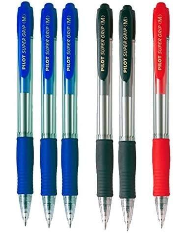 Penna pilot Supergrip Pack 6 unità (3 blu, 2 neri, 1 rosso) / colori assortiti