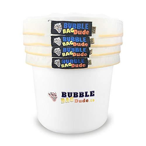BubbleBagDude, kit per estrazione di ghiaccio a base di erbe All Mesh, 1 gallone e 4 sacchetti, con schermo per pressatura e borsa di conservazione