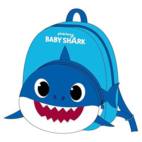 CERDÁ LIFE'S LITTLE MOMENTS - Nickelodeon Tasche Baby Shark Blau   Kleiner Rucksack Kinder für Kindergarten, mehrfarbig, einheitsgröße