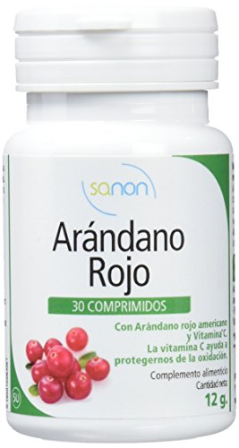 Sanon Arándano Rojo Americano con Vitamina C - 2 Paquetes de 30 Cápsulas