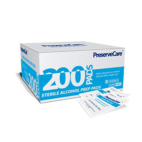 PreserveCare Antiseptic Prep Pads 2-Ply Sterile Pack of 200 Pads