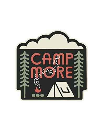 Camp More Sticker, Outdoor Waterproof Vinyl Decal Waterbottle Hydroflask Laptop
