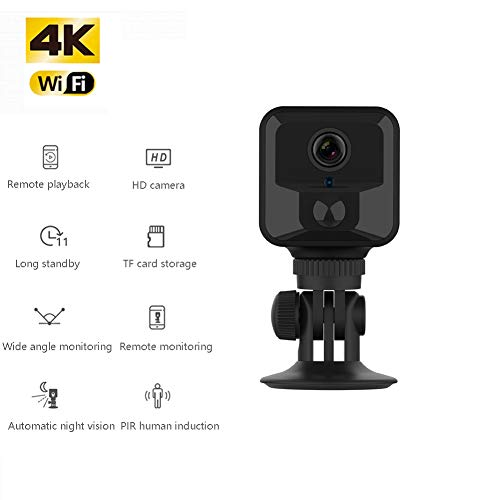 HD 1080P spy camera, PIR body inductie draadloze netwerk bewakingscamera, met Night Vision Sensor Video Recorder, Home/shop-Zwart