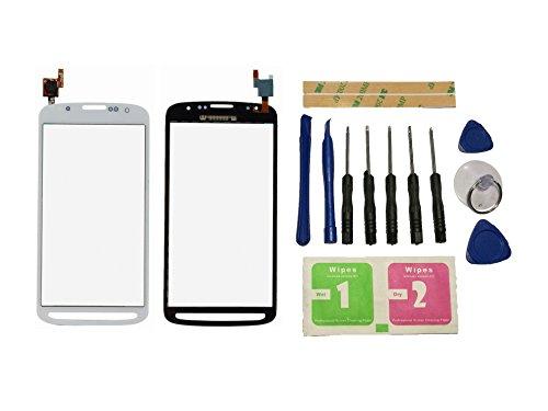 Flügel für Samsung Galaxy S4 Active i9295 i537 Touchscreen Display Digitizer Glas Weiß Bildschirm Frontglas (Ohne LCD) Ersatzteile & Werkzeuge & Kleber