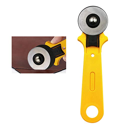 Best 45mm Round Cutters Sewing Rotary Cloth Guiding Cutting Machine Quilters Fabric Craft Tool//5mm Blades Manual Rotary Fabric Cutter Craft Cloth Leather ABS Plastic Sewing Cutting Tool (Yellow)