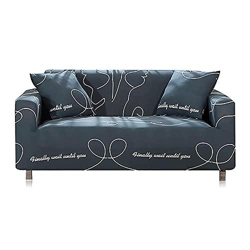 Funda de sofá Moderna Funda elástica para Silla, Protector de Muebles, Fundas de sofá para Sala de Estar A3, 2 plazas