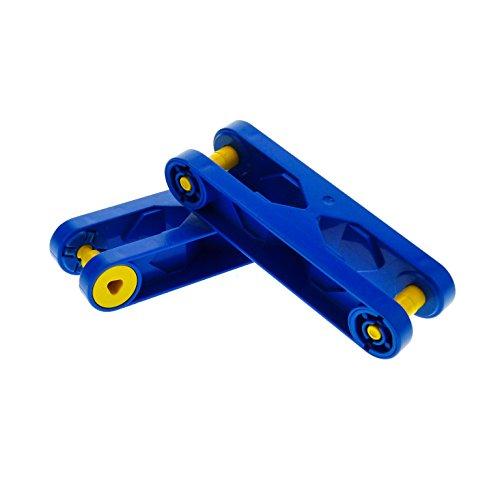 2 x Stein Arm Baustein Verbindung blau 6279 Lego Duplo Toolo