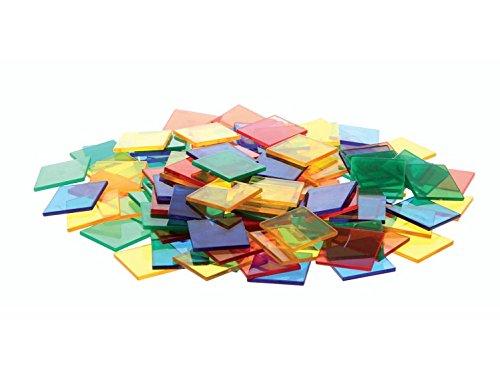 EDX Education 54111 Tegels Doorschijnend Kleur Vierkanten