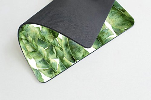 Smooffly Custom Extended Mouse pad,Tropic Plant Watercolor Banana Palm Leaves Mouse Pad Personality Desings Gaming Mousepad Photo #3