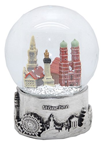Minium Collection 30050 Souvenir Schneekugel München Skyline Silber Sockel - 80mm