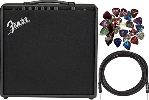 Review Of Fender Mustang LT50 1x12 Electric Guitar Combo Amplifier Bundle with Pick Sampler and Ins...