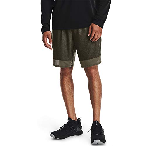 Under Armour Men's Training Stretch Shorts , Victory Green (369)/Black, Small