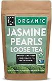 Organic Jasmine Pearls Green Tea   Brew 50 Cups   4oz/113g Resealable Kraft Bag   by FGO