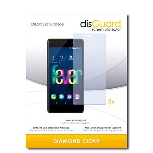 disGuard 2 x Bildschirmschutzfolie Wiko Fever 4G Schutzfolie Folie DiamondClear unsichtbar
