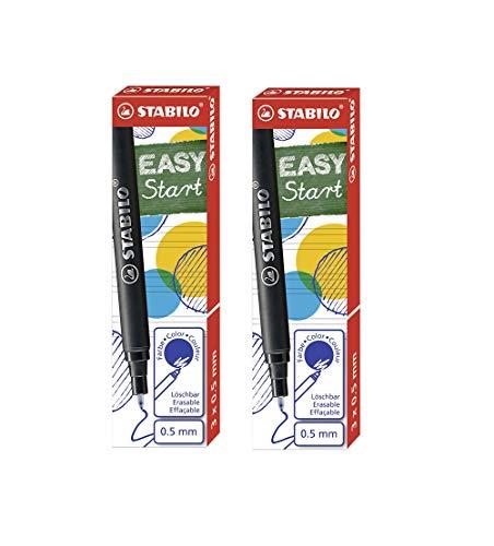 STABILO Cartucho para recarga EASYoriginal Refill – Medio – Tinta azul (borrable) (azul, 6 cartuchos)