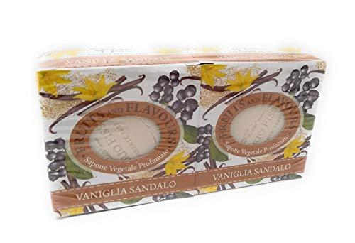2 zeep Vegetali Fruit en Flavours Vaniglia & Sandalo