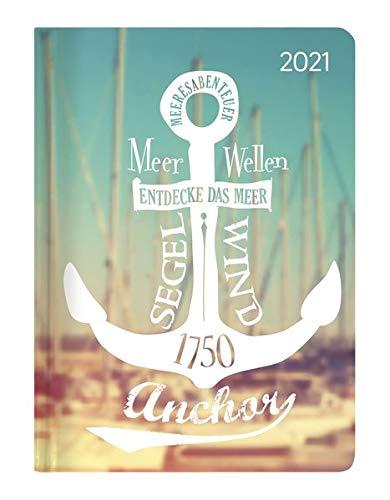 Minitimer Style Ruf des Meeres 2021 - Taschen-Kalender A6 - Weekly - 192 Seiten - Notiz-Buch - mit Info- und Adressteil - Alpha Edition