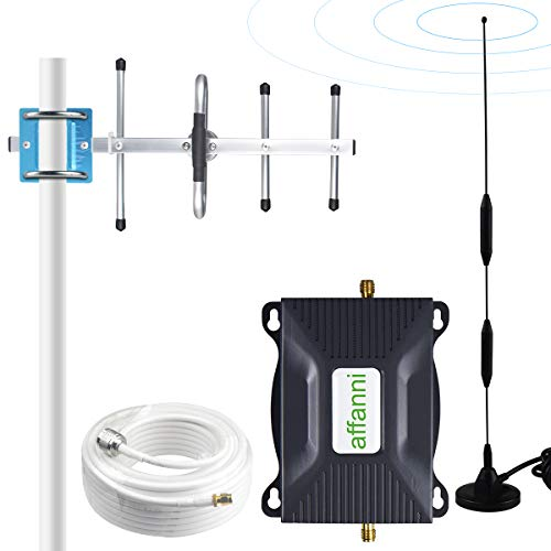 Cell Phone Signal Booster AT&T 4G LTE ATT Cell Phone Booster Amplifier 700Mhz Band 12 Cell Signal Booster ATT Mobile Booster Repeater Extender for Home Office High Gain 65dB affanni
