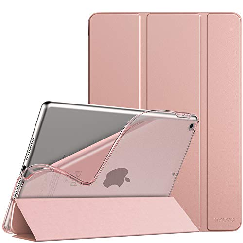 TiMOVO Case for New iPad 8th Generation 2020 / iPad 7th Generation 10.2' 2019, Slim TPU Translucent Frosted Back Protective Cover Shell with Auto Wake/Sleep, Cover Fit iPad 10.2-inch - Rose Gold