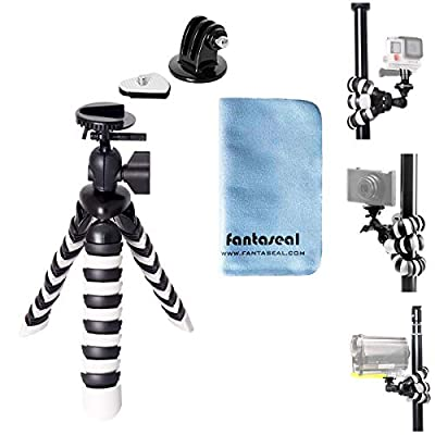"""8"""" Flexible Octopus Twining Action Camera Mini Tripod Motion Camcorder Stand Holder Sports DV Desk Selfie Youtube Vlog Video Mount for GoPro Hero 8 7 6 5 4 Session Sony Yi DJI Osmo Action Akaso Apeman by Fantaseal"""