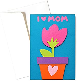 Mamma - un fiore per te - festa della mamma - biglietto d'auguri (formato 15x10,5 cm) - vuoto all'interno, ideale per il t...
