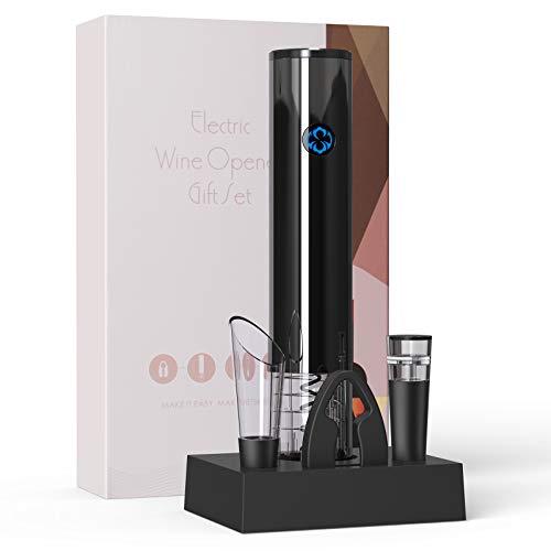 Sacacorchos Eléctrico,NTHJOYS Abridor de Botella Eléctrica incluye abrebotellas automático, abrebotellas de presión...