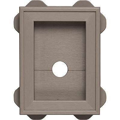 Builders Edge 130130003008 Wrap Around Utility Block 008, Clay