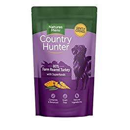 Natures Menu Country Hunter Dog Food – Turkey – single 150g pouch