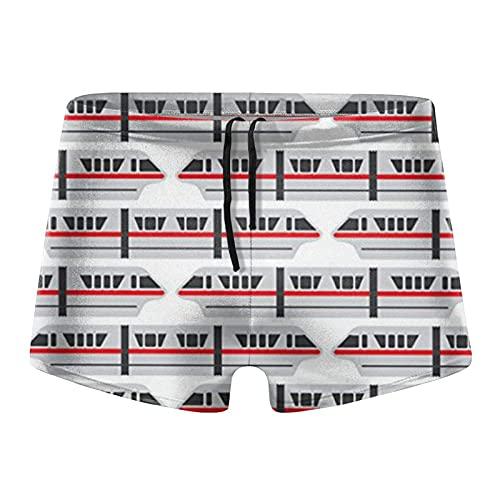 XCNGG Train Men 's Calzoncillos Tipo bóxer de Secado rápido Traje de baño Shorts Trunks Traje de baño-X-Large