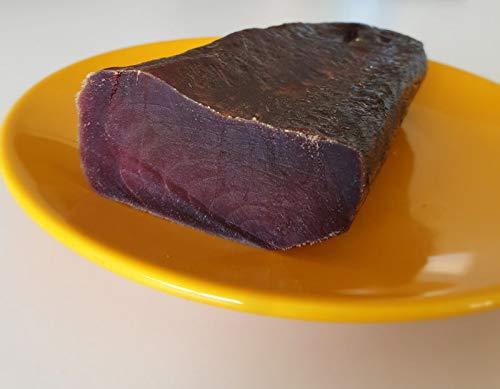 Taco de mojama de atun extra de 400 gramos aproximadamente.