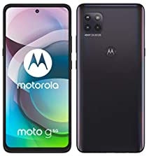 "MOTOROLA moto g 5G (6,7""-Display, 48-MP-Kamera, 4/64 GB, 5000 mAh, Dual-SIM, Android 10) Schwarz, inkl. Schutzcover + KFZ-Adapter [Exklusiv bei Amazon]©Amazon"
