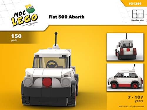 Fiat 500 Abarth (Instruction Only): MOC LEGO (English Edition)