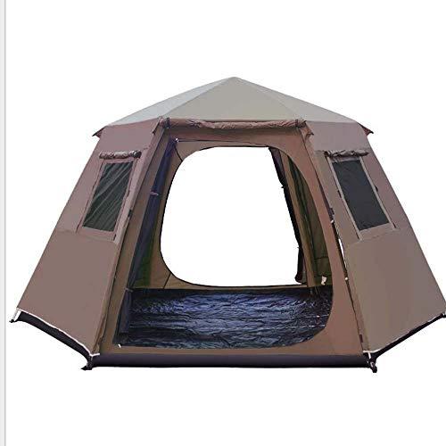 YANYUN Wurfzelt Doppelwandig,Automatische Faltbare Zelte Tragbar Riesiges Wasserdicht Belüftung UV Schutz Einfach Aufzubauen Sekundenzelt Für Trekking Outdoor Camping Stran,Brown