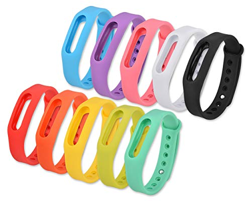 Best of Source Set of 10 Pcs Colorful Replacement Bands Go-tcha, Xiaomi Mi/1S Tracker Smart Bracelet