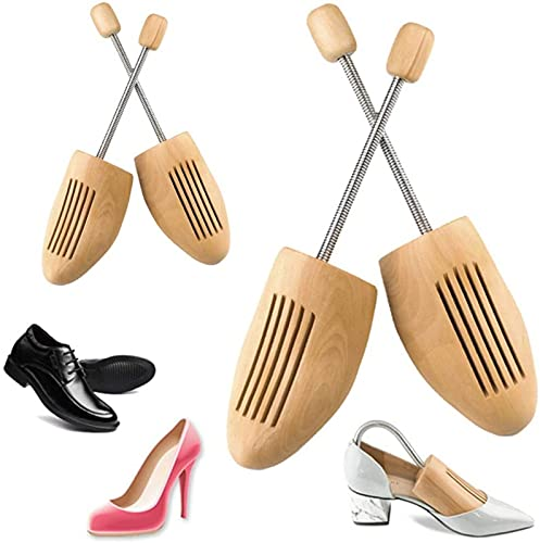 QAZW Zapato Ajustable Árboles Madera Mujeres Hombres Zapatillas De Deporte Zapatos De Fútbol, Hormas para Zapatos Talladora De Zapatos Portazapatos para Zapatos De Largo,L(43~46EU)