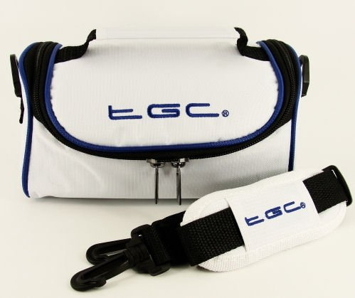 TGC ® Camera Case voor Fujifilm X100S met schouderriem en draaggreep, Cool White With Dreamy Blue Trims