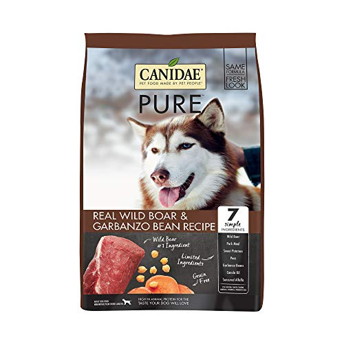 Canidae PURE Grain Free, Limited Ingredient Dry Dog Food, Wild Boar and Garbanzo Bean, 24lbs
